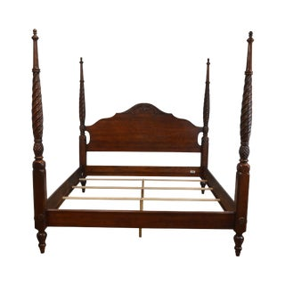 Ethan Allen British Classics King Size Poster Bed (B) For Sale