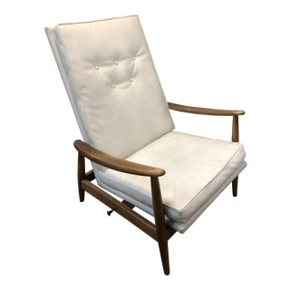 1950s Mid-Century Modern Milo Baughman Recliner Chair For Sale