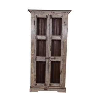 Rustic Marybel Wooden Almirah For Sale