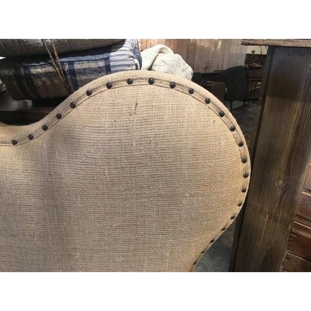 Textile Noir Queen Burlap Bed For Sale - Image 7 of 10