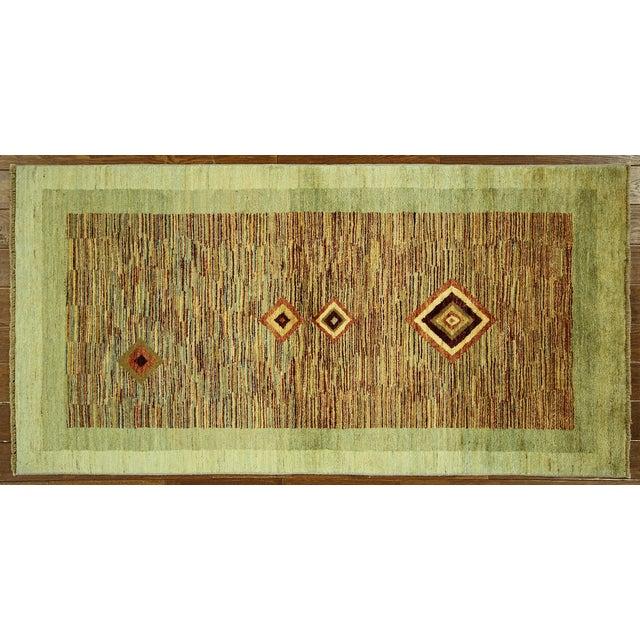 New Oushak Green Chobi Area Rug - 3' x 6' - Image 2 of 9