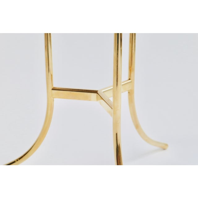 Metal Cedric Hartman Brass and Marble Side Table For Sale - Image 7 of 9