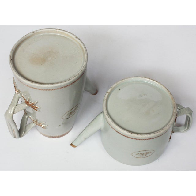 "Chinese Export Coffee / Tea Set, Monogrammed ""GM"" For Sale - Image 4 of 5"