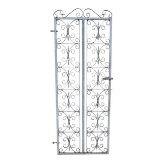 English Wrought Iron Garden Gate or Entry Gate For Sale
