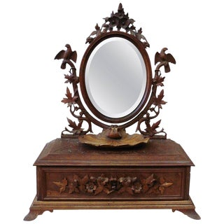 19th Century Black Forest Bird Vanity & Mirror