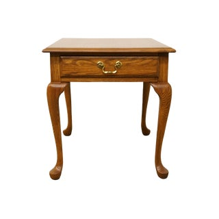 "Pennsylvania House Solid Oak Country French 21x27"" Accent End Table For Sale"