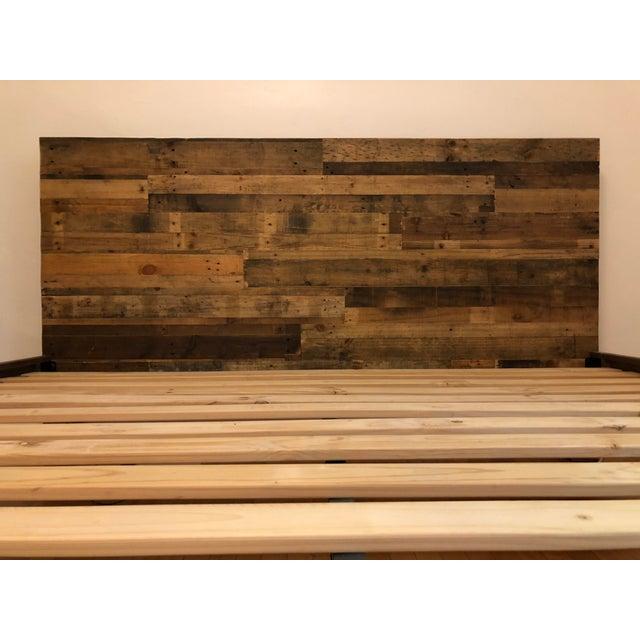 2c52264503df 2010s Rustic West Elm - Emmerson King Size Reclaimed Wood Bedframe For Sale  - Image 5