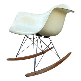 Vintage Mid Century Eames Rope Edge Zenith Plastics Rocker Chair For Sale