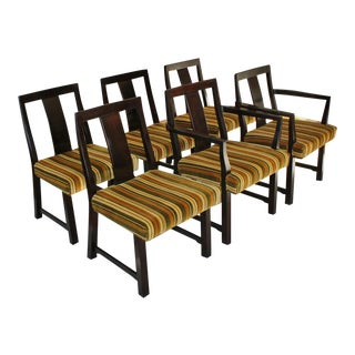 Edward Wormley Dunbar Mid-Century Mahogany DIning Chairs - Set of 6