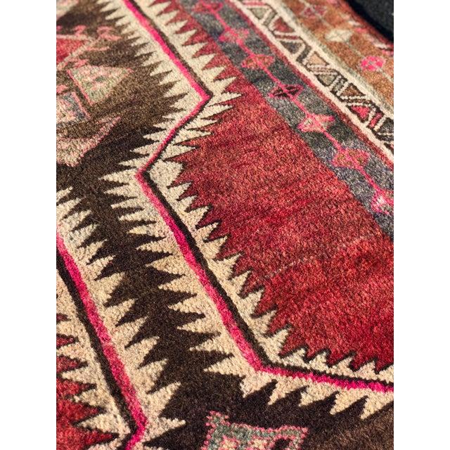 Textile 1960s Vintage Turkish Oushak Runner Rug - 3′10″ × 12′2″ For Sale - Image 7 of 13