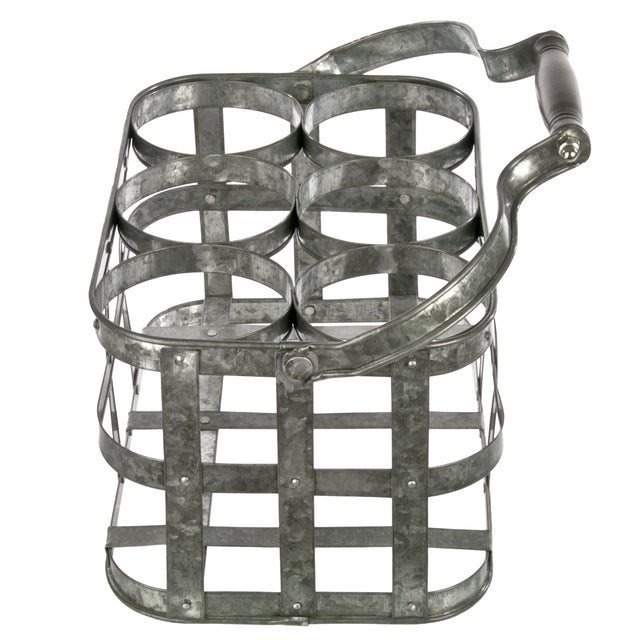 Galvanized Bottle Carrier - Image 3 of 3