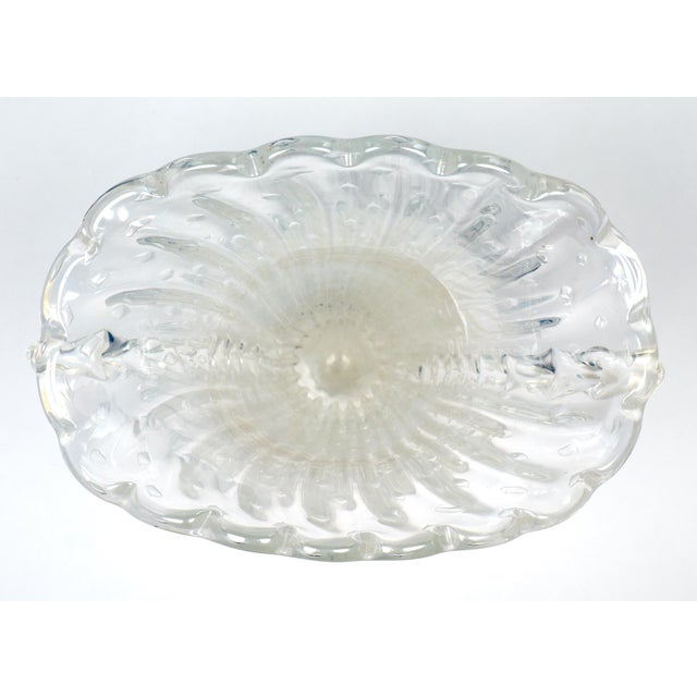 """Crystal Clear Murano """"Pulegoso"""" Glass Vase For Sale In Austin - Image 6 of 9"""