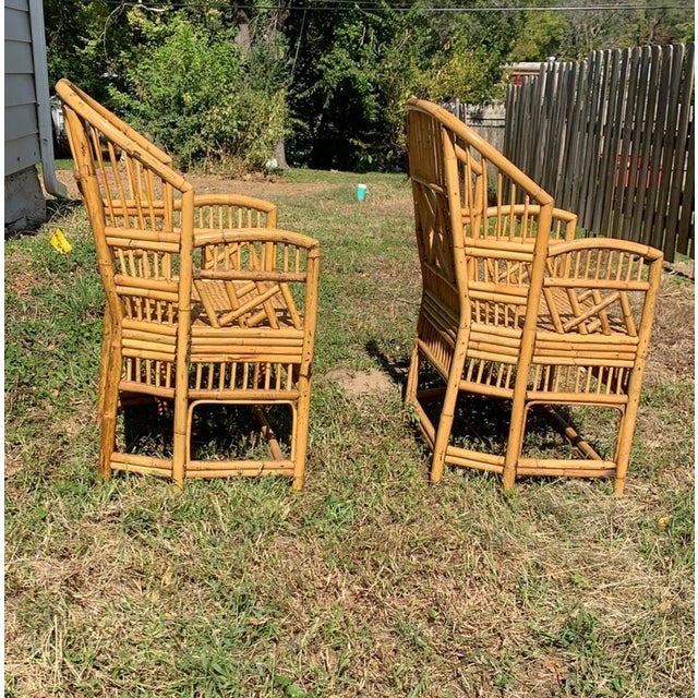 Wicker Antique Chinese Bamboo Chairs - A Pair For Sale - Image 7 of 13