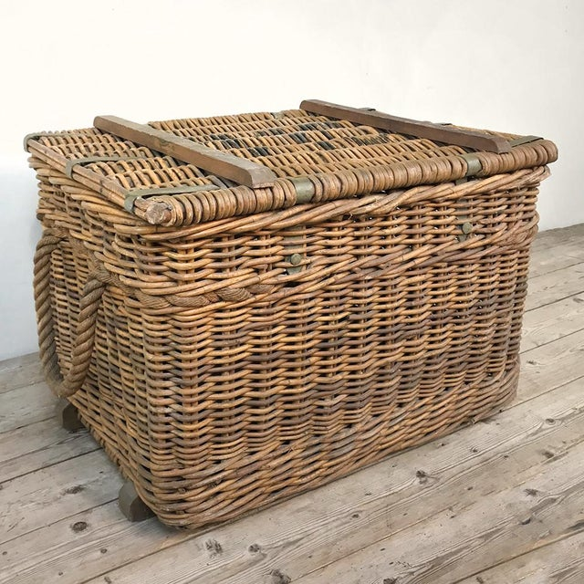 Antique Wicker Basket For Sale - Image 4 of 13