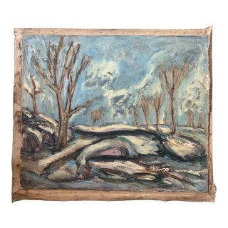 1930s Expressionist Plein Air Landscape Painting by Joachim Aviron For Sale