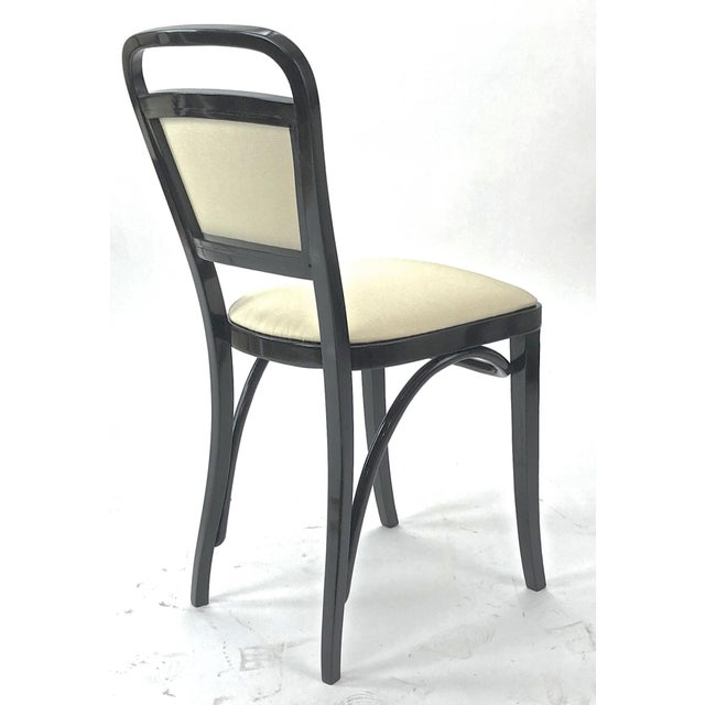 White Maison Thonet Rare Set of Black Lacquered Bent Wood Five Pieces Set For Sale - Image 8 of 9