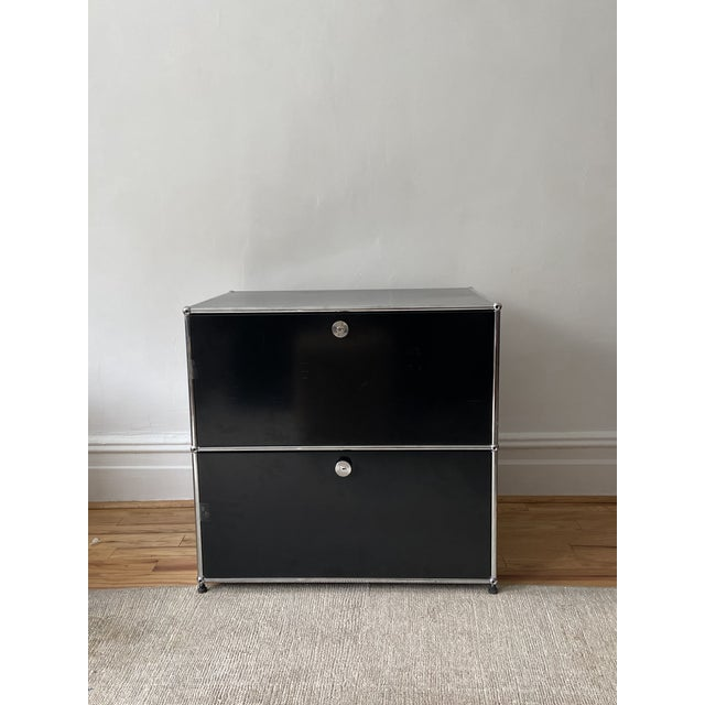 2020s Usm Haller Black 2 Drawer Cabinet For Sale - Image 5 of 5