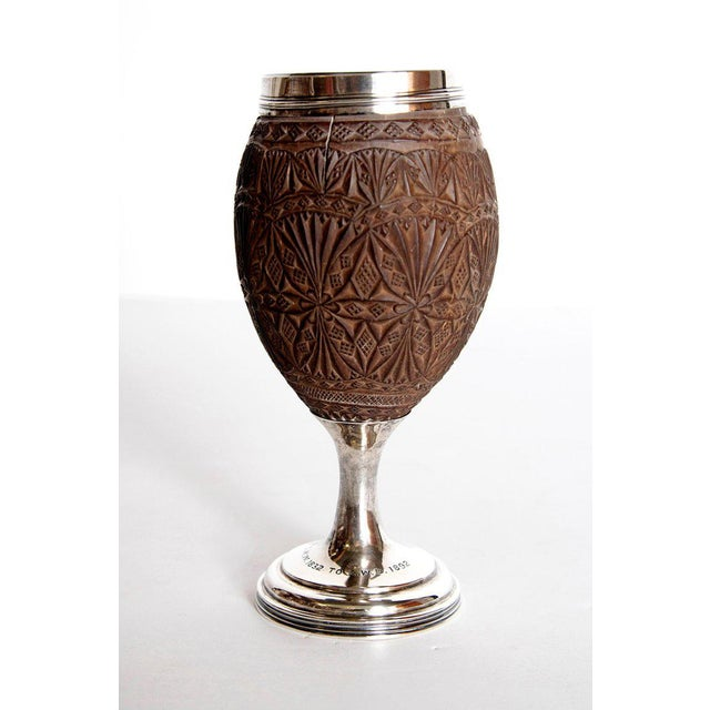 Late 18th Century Geroge III Coconut & Silver Goblet by Charles Hougham For Sale - Image 4 of 13