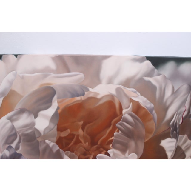 """Vintage Winifred Godfrey Painting """"Pale Peony"""" For Sale - Image 4 of 13"""