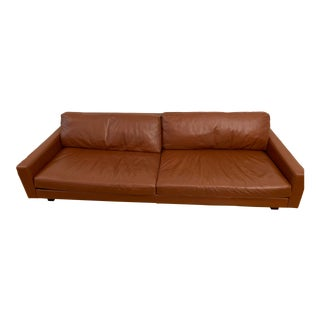 Room & Board Cognac Leather Sofa For Sale
