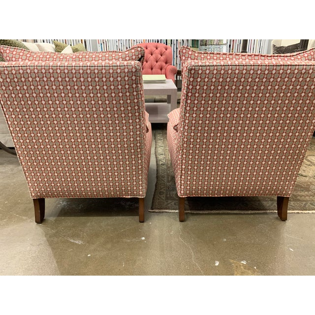 Traditional Red Thibaut Chairs - A Pair For Sale - Image 3 of 9
