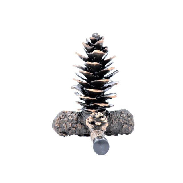 Black Forest Fir Cone Door Stop, Traditional Patina For Sale - Image 3 of 3