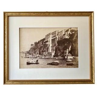 Antique Original Photograph Sorento Italy 1896 Hotel Tramontano For Sale