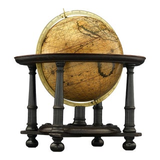 Dutch Terrestrial Table Globe by Gerard Valk For Sale