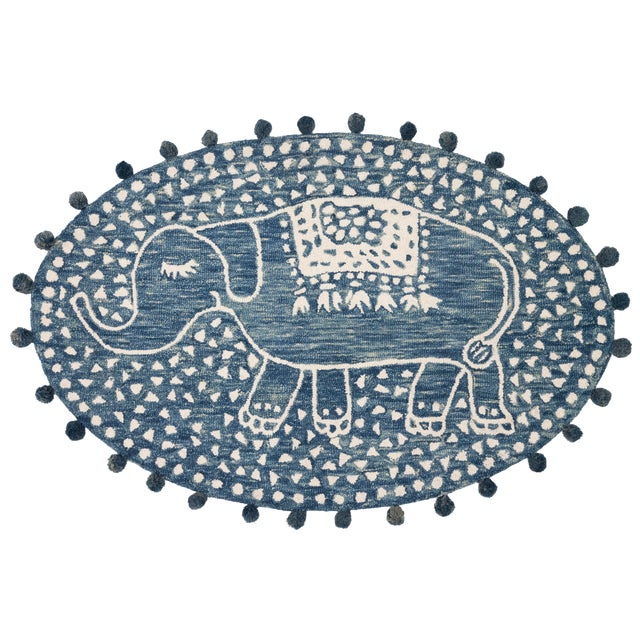 "Justina Blakeney X Loloi Rugs Fante Rug, Denim - 3'6""x5'6"" For Sale"