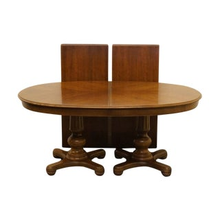 "Thomasville Furniture Cellini Collection 108"" Double Pedestal Dining Table For Sale"