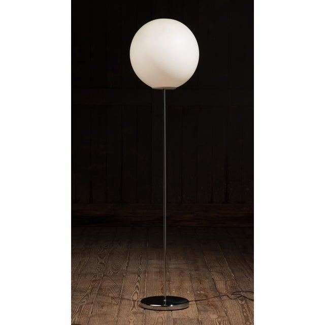 White 1970s Vintage Neal Small for Sonneman Lollipop Globe Floor Lamp For Sale - Image 8 of 8