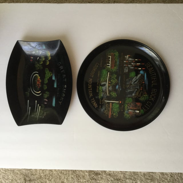 Black Tennessee Mid-Century Souvenir Trays - A Pair For Sale - Image 8 of 11