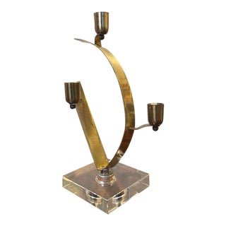 Brutalist Hand Made Candle Holder Sculpture For Sale