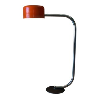 Chrome and Enameled Metal Floor Lamp by Robert Sonneman, Ca. 1970 For Sale