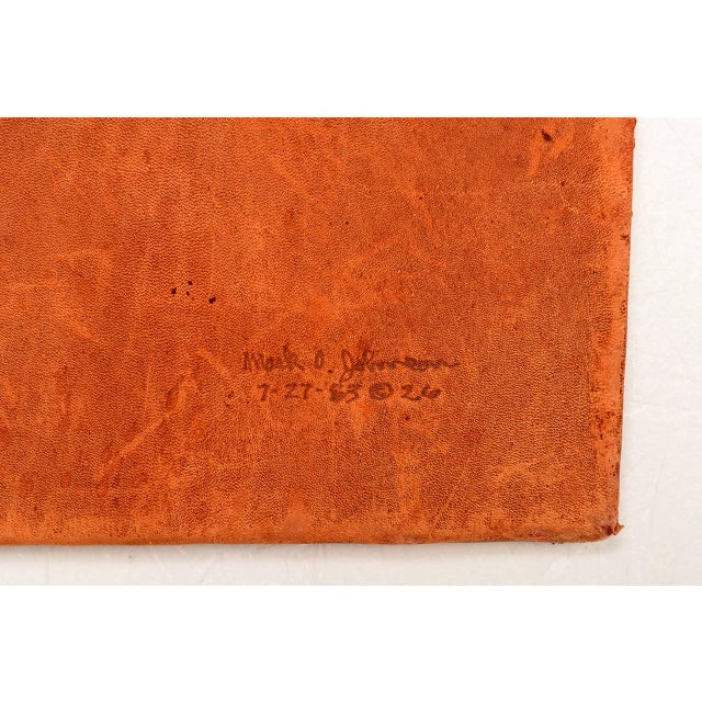 Brown Marc O Johnson Eagle in Leather Art Work For Sale - Image 8 of 10