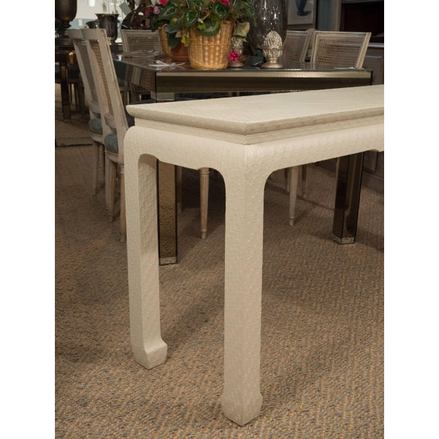 White Lacquered Console Table For Sale In New York - Image 6 of 10