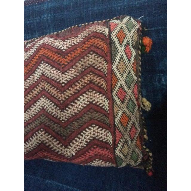 Vintage Moroccan Textile Kilim Pillow - Image 3 of 6