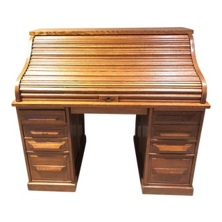 Cutler & Son Oak Americana Rolltop Desk