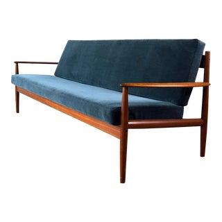 Vintage Grete Jalk for France & Sons Model 118 Reupholstered Teak Sofa For Sale