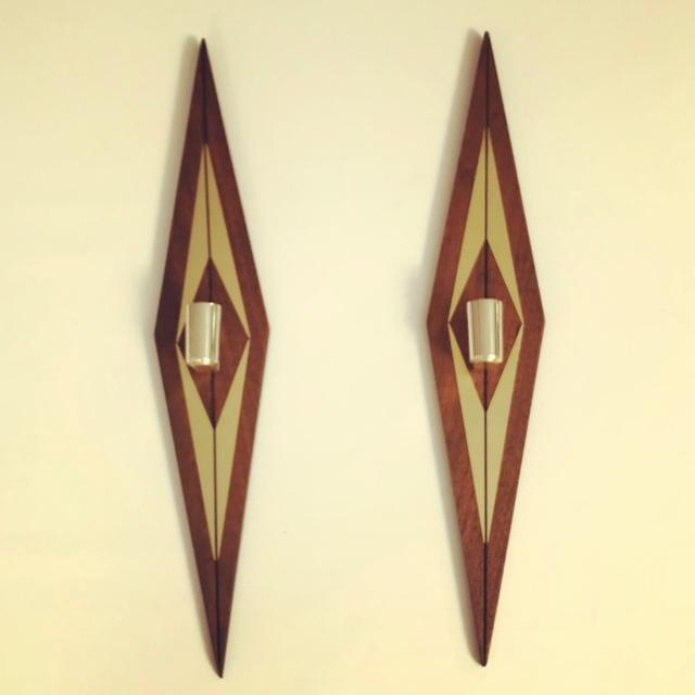 Brass 1970s Mid-Century Modern Candle Wall Sconces - a Pair For Sale - Image 7 of 7
