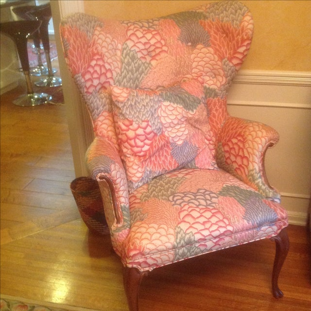 Queen Anne Round Style Arm Chairs - Pair - Image 2 of 3