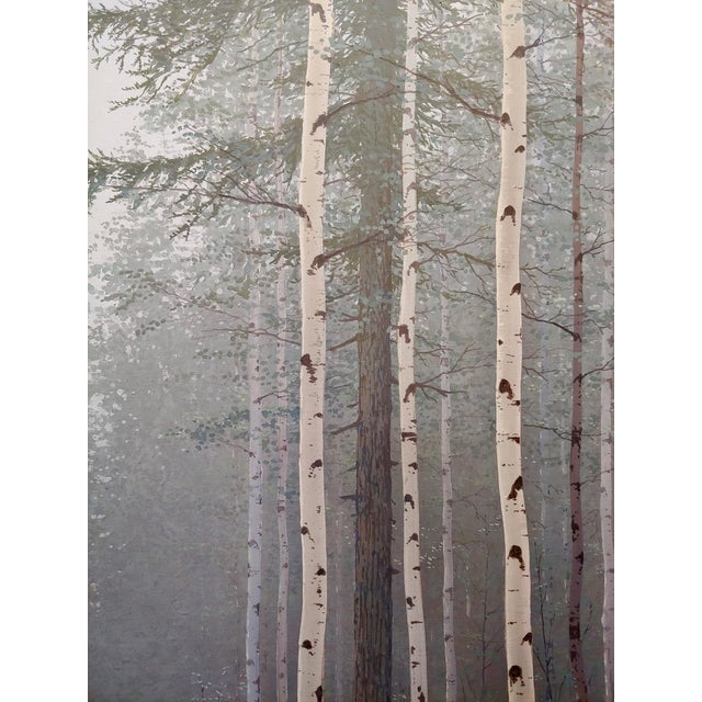 Jack Braman -Inside a Misty Forest of Aspens -Realism-Oil Painting For Sale In Los Angeles - Image 6 of 12