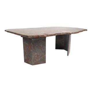 Contemporary Modern Free Form Granite Coffee Table For Sale