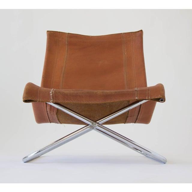 Sueki Uchida Leather Sling Chair Chairish