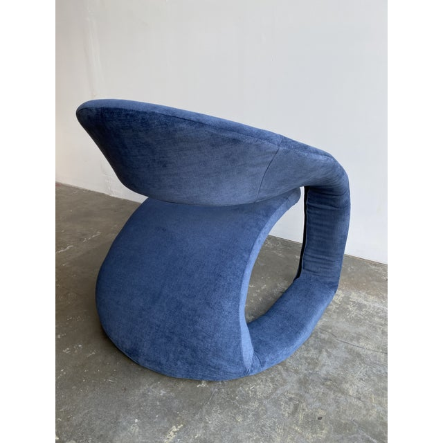 1980s Vintage Memphis Sculptural Cantilever Chairs and Ottoman For Sale - Image 11 of 13
