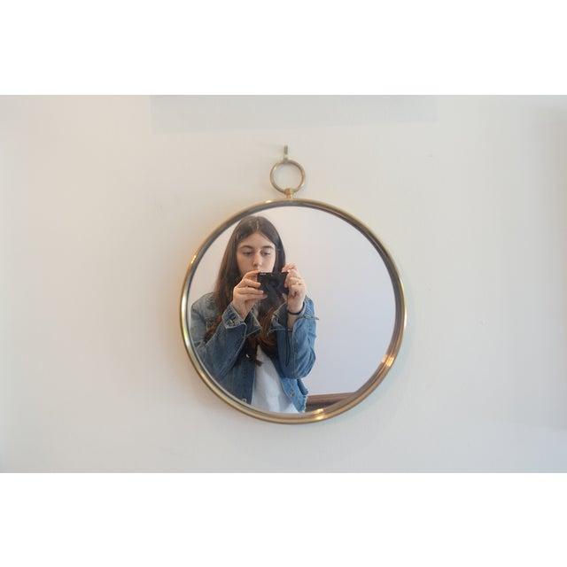 Piero Fornasetti Fornasetti Style Mid Century Brass Mirror For Sale - Image 4 of 4