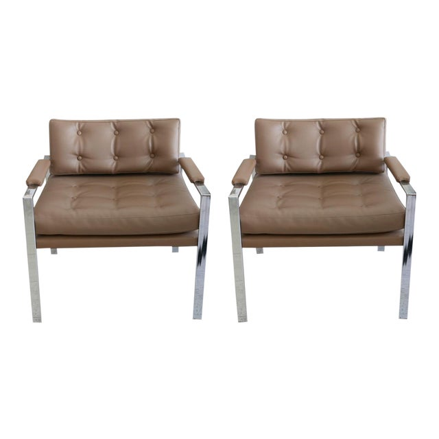 Milo Baughman for Thayer Coggin Lounge Chairs - Pair For Sale
