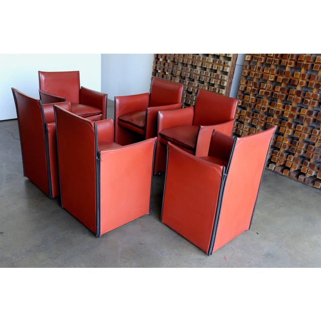Late 20th Century Mario Bellini 'Break' Armchairs - Set of 6 For Sale In Los Angeles - Image 6 of 13