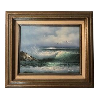 Original Framed Seascape Oil Painting For Sale