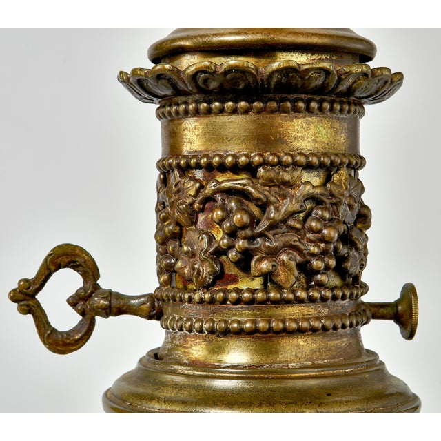 1930's Brass Table Lamp With a Cherub's in the Forest Tableau For Sale - Image 10 of 13